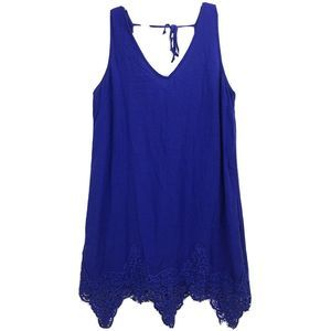 ASTR Nordstrom Blue V-neck Trapeze Dress